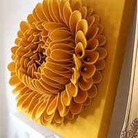 handmade felt flower wall art by sandy a powell | notonthehighstreet.com