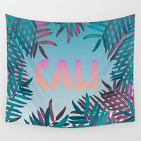 CALI VIBES Wall Tapestry by Nika