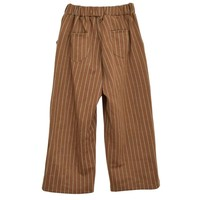 WIDE LEG BROWN STRIPED TROUSERS