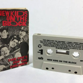 Vintage NKOTB This One's for the Children Cassette Tape/New Kids on the Block 1980s 1990s Single Cassette/Vintage CBS Records Inc. NKOTB