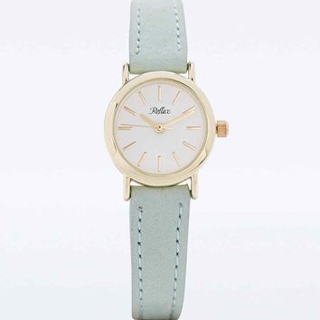 Reflex Suede Strap Watch in Mint - Urban Outfitters