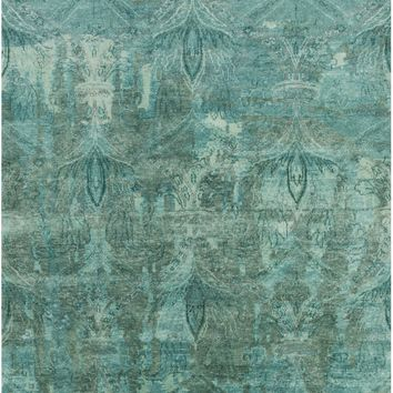 Surya Cheshire CSH6003 Blue/Green Medallion and Damask Area Rug