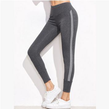 Fashion Casual Stripe Sports Yoga Leggings Pants Trousers Sweatpants