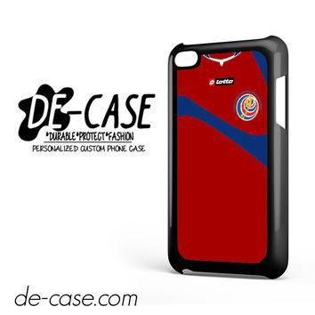 Costa Rica Soccer Jersey For Ipod 4 Ipod Touch 4 Case Phone Case Gift Present YO
