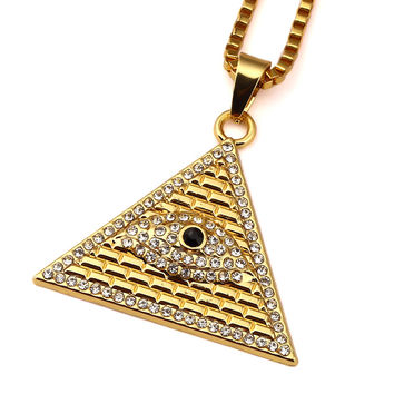 Iced Out Egyptian Eye Necklace