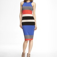 MULTICOLOR MIDI SHEATH DRESS