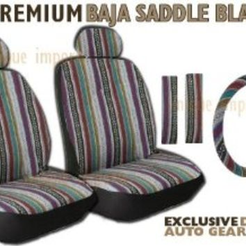 Baja Inca Saddle Blanket Front Seat Cover Pair