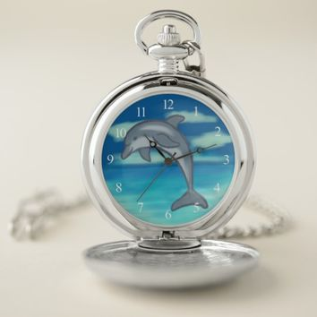 Dolphin Paradise Pocket Watch