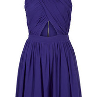 Wrap Mesh Ruche Skater Dress - Going Out  - New In