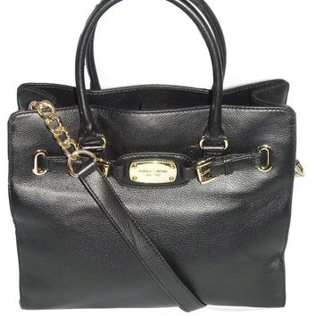 Michael Kors Hamilton Large Ns Tote Bag in Black Leather