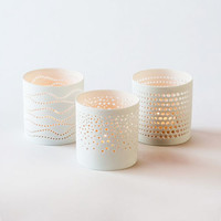 Porcelain Votives - Set of 3