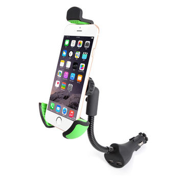 2-Port USB Universal Car Mount Phone Holder For Smartphones