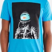 Design By Humans Underwater Astronaut Tee- Teal