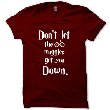 HARRY POTTER Shirt Christmas T-Shirt Black White Gray Maroon Unisex T-Shirt Tee S,M,L,XL #7