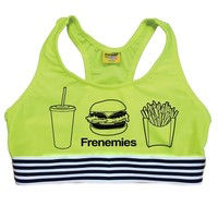 BEST KIND OF FRENEMIES SPORTS BRA - NEON