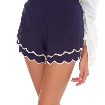 A Little Late Shorts Navy