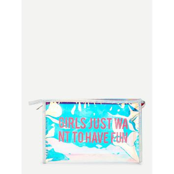 Iridescence PVC Makeup Bag