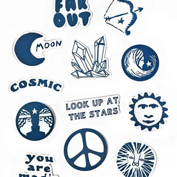 Cosmic Stickers w/ Vinyl Pouch (Set of 12)