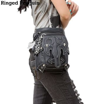 Ringed Penguin Steam Steampunk Punk Motorcycle Waist Pack
