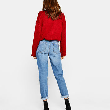 Mom fit jeans - Jeans - Bershka United States