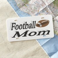Football Mom 3D License Plate