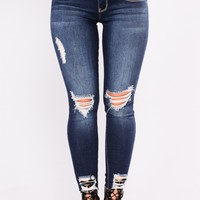 Dance Dance Dance Booty Lifting Jeans - Dark Denim