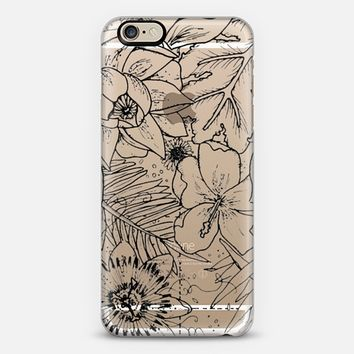 tropical monochrome floral case iPhone 6s case by Connie | Casetify