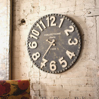Reclaimed wood Wall Clock -Large Wall Clock -Farmhouse Decor -Rustic Decor -Farmhouse - Vintage style Clock -Rustic Wall Clock, Solid Wood