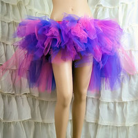 Fuchsia Hot Pink and Dark Purple Cheshire Cat trashy bustle TuTu MTCoffinz ALL SIZES