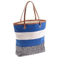 GIRLS' GLITTER CANVAS TOTE BAG