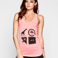 Lrg All Icon Womens Tank Papaya  In Sizes