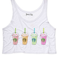 Color Frap Crop Tank Top