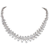 Classic Diamond Wreath Necklace