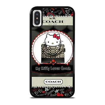 HELLO KITTY LOVES COACH iPhone 5/5S/SE 6/6S 7 8 Plus X/XS Max XR case