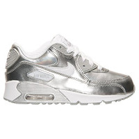Girls' Preschool Nike Air Max 90 Premium Leather Running Shoes | Finish Line