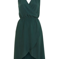 Green Wrap Front Dress - Dresses  - Apparel