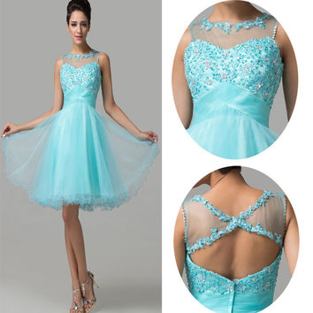 Gorgeous Short Mini Graduation Homecoming Formal Bridesmaid Evening Prom Dresses