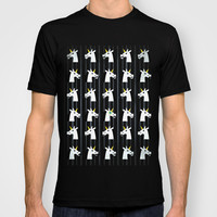 Moustaches and a Monocle Unicorn T-shirt by That's So Unicorny | Society6