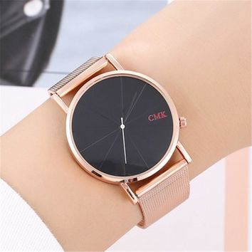 2018 Fashion Quartz Watch Women Watches Female Clock Montre Femme Relogio Feminino Girl Wrist Watch Couple alloy mesh belt watch
