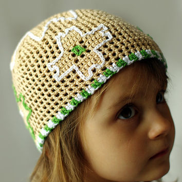 Summer hat for girls, kids summer beanie, girls sun hat, toddler hat, toddler sun hat, crochet sun hat, hat for kids, child summer hat, ooak