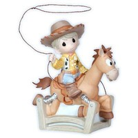 """Precious Moments, Disney Showcase Collection """"Ride Like The Wind Bullseye"""", Bisque Porcelain Figurine, 112020"""