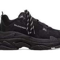 KU-YOU Balenciaga Triple S Sneakers Black