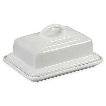 Le Creuset® Covered Butter Dish in White