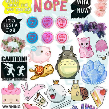 Set #35. Tumblr Stickers. Stickers. Set of stickers. Decals