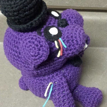 It's Shadow Freddy! As seen on Five Nights at Freddy's - Fan Art -amigurumi - crochet plush doll