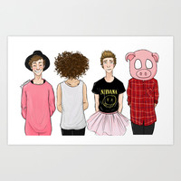 5SOS Art Print by Girlwiththetea