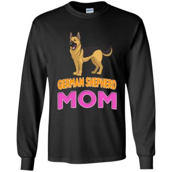 German Shepherd Funny Dog Mom LS Ultra Cotton T-Shirt