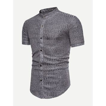 Men Ribbed Blouse