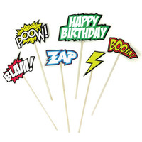 Comic Cake Toppers | Birthday Cake Decorations