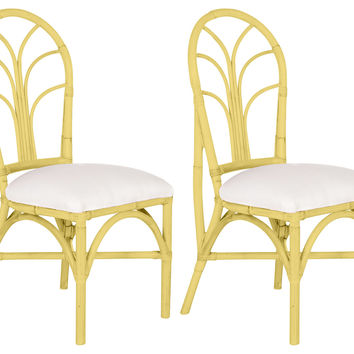 Yellow Bermuda Chairs, Pair, Dining Chair Sets